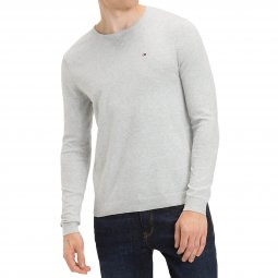 Pull col rond Original Tommy Jeans gris chiné