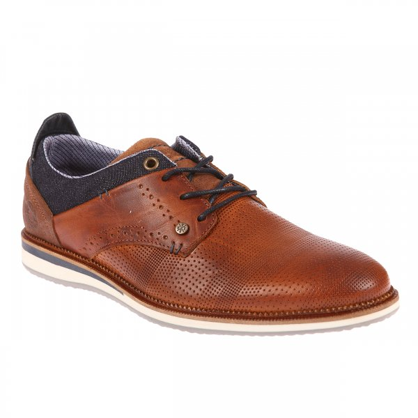 Derbies Bullboxer marron à semelle type basket