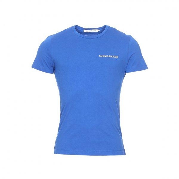En FloquéRue Col Calvin Bleu Hommes Rond Klein Shirt Méditerranée Coton Des Institutional Tee Jeans Chest W92HIED