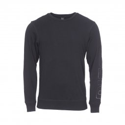 Sweat col rond Diesel Willy en coton mélangé noir floqué