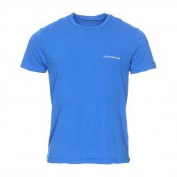 0c73996ea9f4 ... Lot de 2 tee-shirts col rond Emporio Armani en coton stretch bleu  électrique et ...