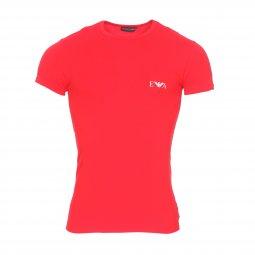 dbe476af8090 ... Lot de 2 tee-shirts col rond Emporio Armani en coton stretch bleu  marine et ...