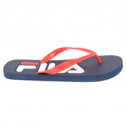 Tongs Fila Troy Slipper bleu marine à bride rouge vif