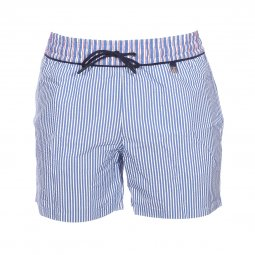 e32af669ef Short de bain Hom Preppy rayé bleu et blanc ...