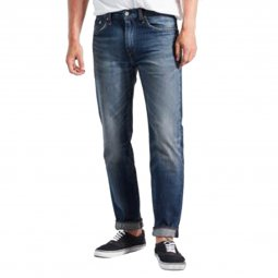 Jeans Levi's 502 Regular Taper en coton stretch bleu à aspect usé