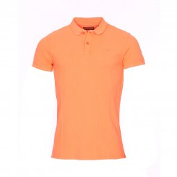 Polo Petrol Industries en piqué de coton orange fluo
