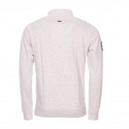 Sweat zippé Petrol Industries en coton mélangé gris clair chiné