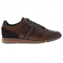 Baskets Redskins Crepino en cuir lisse marron