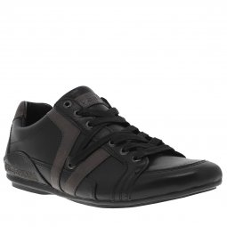 Baskets Redskins Arene en cuir noir