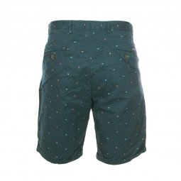 Short chino Scotch & Soda en coton vert sapin logotypé