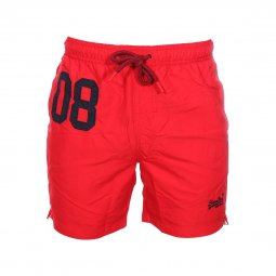 Short de bain Superdry Water Polo rouge à détails noirs