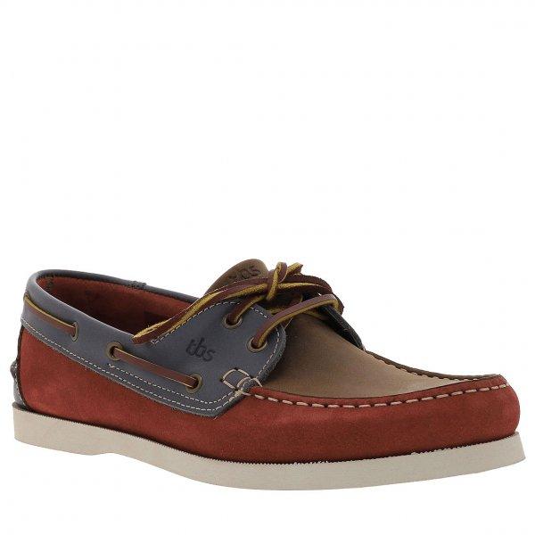 en soldes 0c6ca 92c8e Chaussures bateau TBS Phenis en croûte de cuir rouille et marron   Rue Des  Hommes