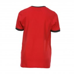 Tee-shirt col rond Teddy Smith Junior Ticlass en coton rouge floqué en bleu marine
