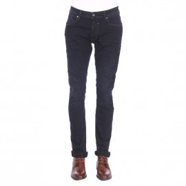 Jean droit Teddy Smith Regular Comfort Used en coton stretch bleu nuit
