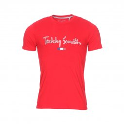 Tee-shirt col rond Teddy Smith Teven en coton rouge