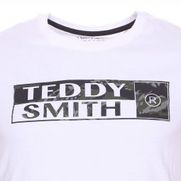 Tee-shirt col rond Teddy Smith Troma en coton blanc