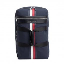 Sac weekend adaptable en sac à dos Tommy Hilfiger Elevated en toile bleu marine