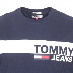 Tee-shirt col rond Tommy Jeans Essential Box Logo en coton bleu marine