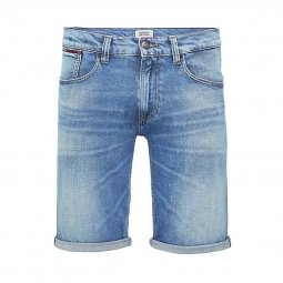 Short en jean Tommy Jeans Ronnie en coton stretch bleu clair délavé