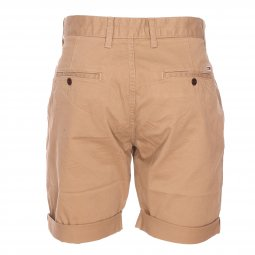 Short Tommy Jeans Essential Chino en coton stretch beige