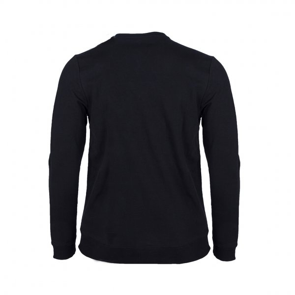 Sweat col rond Guess Ed en coton stretch noir floqué