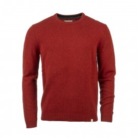 Pull col rond Harris Wilson Jaber en laine rouge