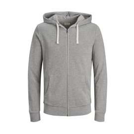 Sweat à capuche Jack & Jones Holmen en coton gris
