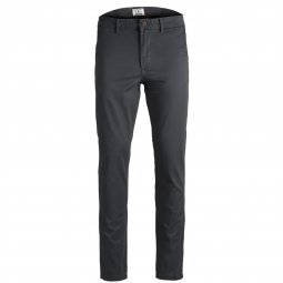 Pantalon Jack & Jones Marco Bowie en coton stretch gris anthracite