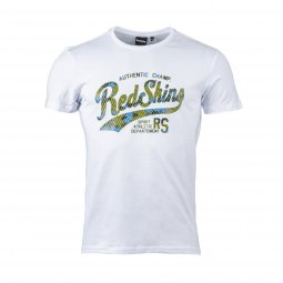Tee-shirt col rond Redskins Holster en coton stretch blanc floqué