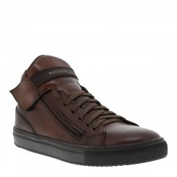 Baskets Redskins Perpet en cuir marron