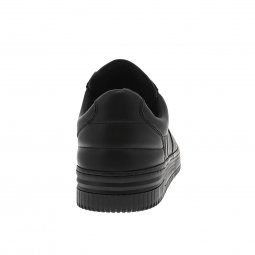Baskets Redskins Enoss en cuir noir
