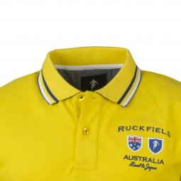 Polo Ruckfield Road to Japan en coton stretch jaune Australia