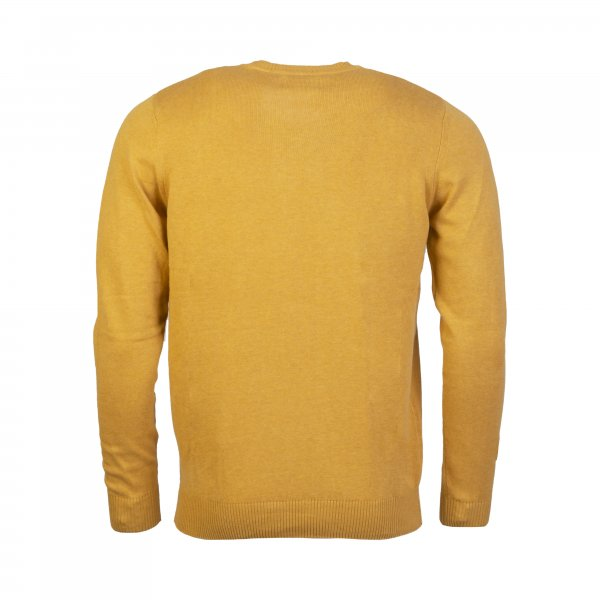 Pull col V Teddy Smith en coton jaune moutarde