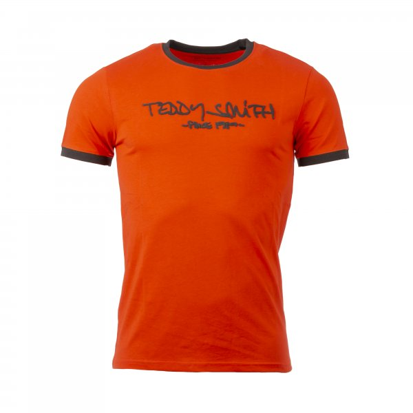 Tee-shirt col rond Teddy Smith Ticlass 3 en coton orange
