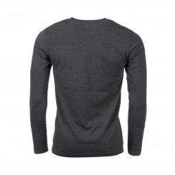 Tee-shirt manches longues Teddy Smith Ticlass 3 en coton mélangé gris anthracite chiné et blanc