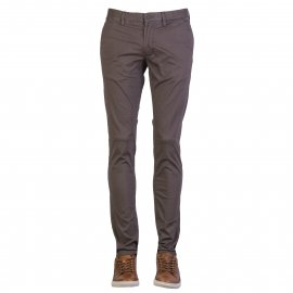 Pantalon chino Teddy Smith en coton stretch marron