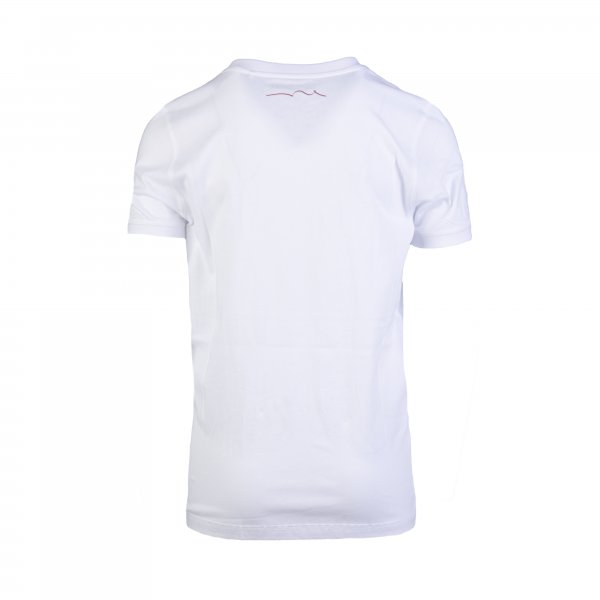 Tee-shirt Teddy Smith T-sims en coton blanc floqué