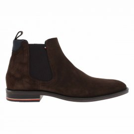 Bottines Tommy Hilfiger Signature en daim marron