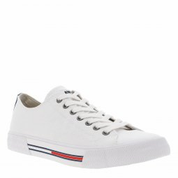 Baskets Tommy Jeans Classic en toile blanche