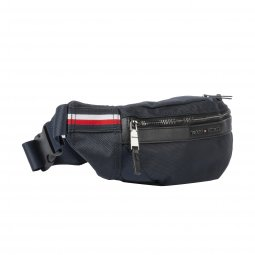 Sac banane Tommy Hilfiger Elevated en toile bleu marine