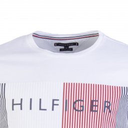 Tee-shirt Corp Merge Tommy Hilfiger en coton blanc
