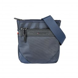Sacoche Tommy Hilfiger Elevated nylon mini crossover bleu marine