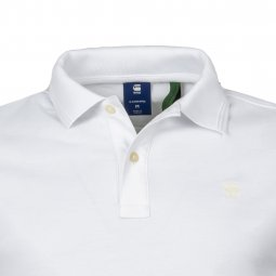Polo G-Star Dunda en coton stretch blanc