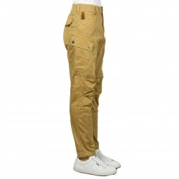 Pantalon G-Star straight Roxic en coton stretch beige