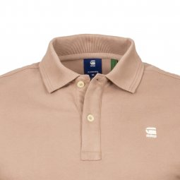 Polo G-Star Dunda en coton stretch vieux rose
