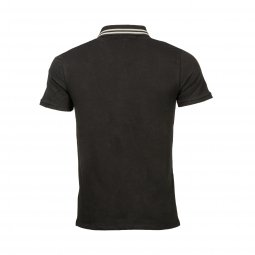 Polo Guess en coton stretch noir
