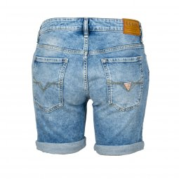Short Guess Jeans Angels en coton stretch bleu clair délavé