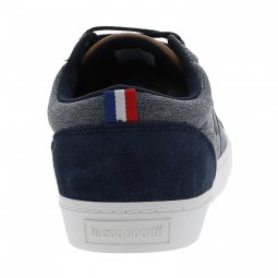 Baskets Le Coq Sportif Verdon Classic en toile bleue chiné
