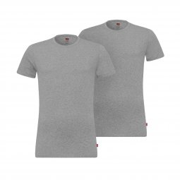 Lot de 2 tee-shirts col rond Levi's en coton stretch gris chiné