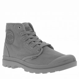 Baskets montantes Palladium Pampa Hight Titanium en toile grise